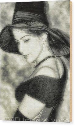 Wiccan Lady Wood Print