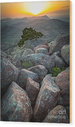 Wichita Mountains Wood Print by Inge Johnsson