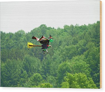 Wicked And Flying Wood Print by Thomas Young