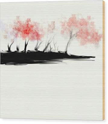 Wicked Beautiful #2 Wood Print by Jessica Wright