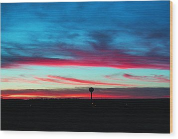 Wicked Sunset Wood Print