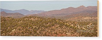 Wickenburg Mountains Wood Print by Suzanne Oesterling