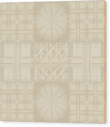 Wicker Quilt Wood Print by Kevin McLaughlin