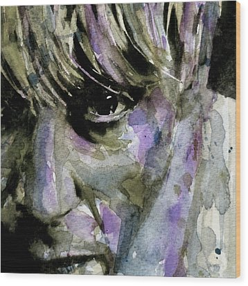 Wide Eyed Boy From Freecloud Wood Print by Paul Lovering