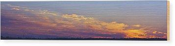 Wide Sunset Panorama Wood Print