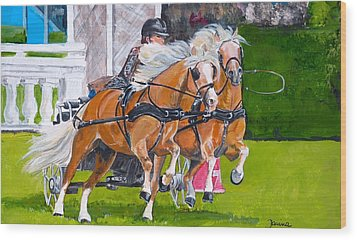 Wood Print featuring the painting Widescreen Hickstead by Janina  Suuronen