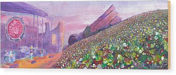 Widespread Panic At Redrocks Wood Print