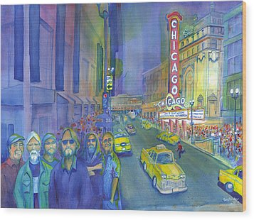 Widespread Panic Chicago  Wood Print