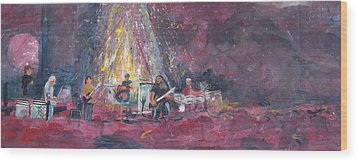 Widespread Panic Painted Live  Wood Print by David Sockrider