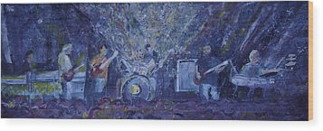 Widespread Panic Painted Live Two Wood Print by David Sockrider