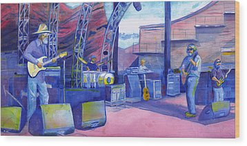 Widespread Panic Redrocks Wood Print
