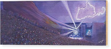 Widespread Panic Redrocks Lighting Wood Print