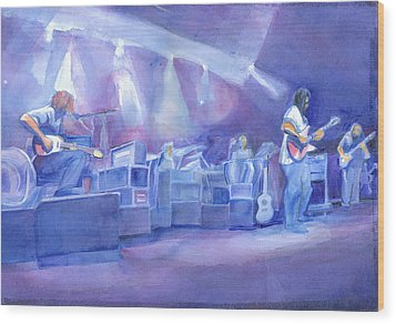 Widespread Panic With Michael Houser  Wood Print by David Sockrider