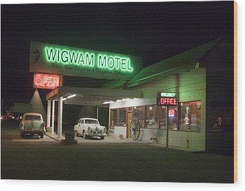 Wigwam Motel In Holbrook Wood Print by Carol M Highsmith