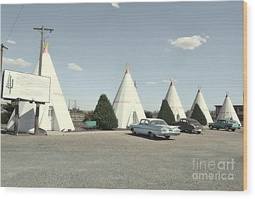 Wood Print featuring the photograph Wigwams In Arizona by Utopia Concepts