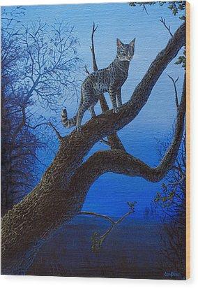 Wild Blue Wood Print by Cara Bevan