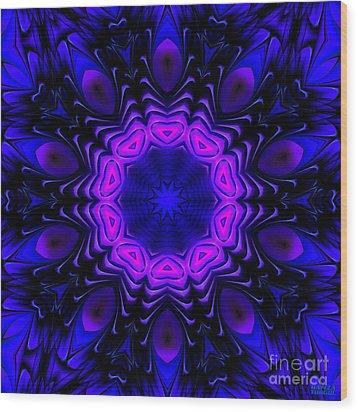 Wood Print featuring the digital art Wild Blue by Hanza Turgul