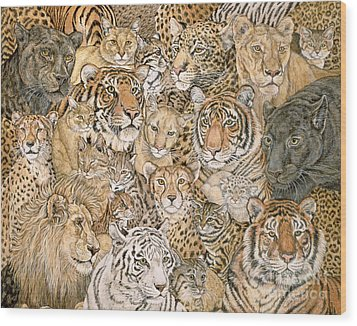 Wild Cat Spread Wood Print by Ditz