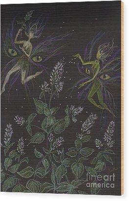 Wild Catnip Wood Print by Dawn Fairies