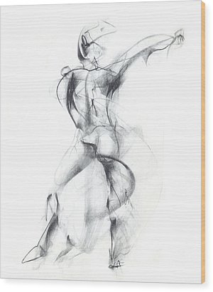 Wild Dancer Wood Print by Christopher Williams