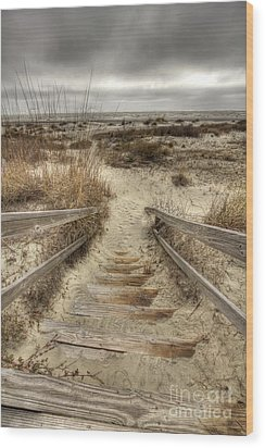 Wild Dunes Beach South Carolina Wood Print by Dustin K Ryan