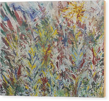 Wild Flowers Wood Print by Andrew J Andropolis
