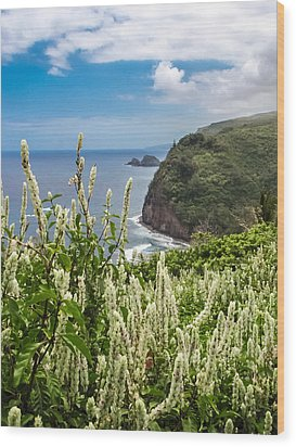 Wild Flowers At Pololu Wood Print