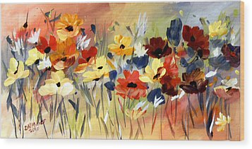 Wild Flowers Wood Print by Dorothy Maier