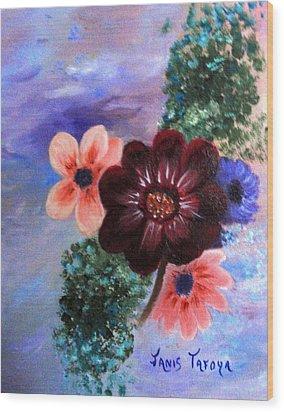 Wild Flowers Wood Print by Janis  Tafoya