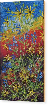 Wild Flowers Wood Print by Katia Aho