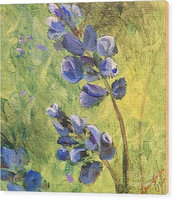 Wild Flowers Wood Print by Laurianna Taylor