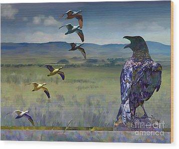 Wild Geese Wood Print