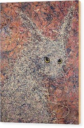 Wild Hare Wood Print by James W Johnson