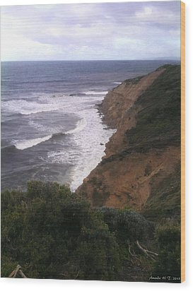 Wood Print featuring the photograph Wild Headland by Amanda Holmes Tzafrir
