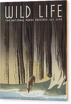 Wild Life Poster, C1940 Wood Print by Granger