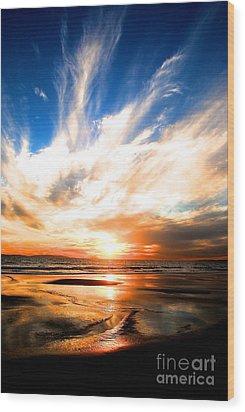 Wild Night Sky Wood Print by Margie Amberge