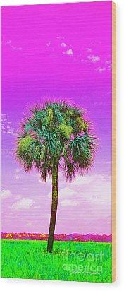 Wild Palm 4 Wood Print