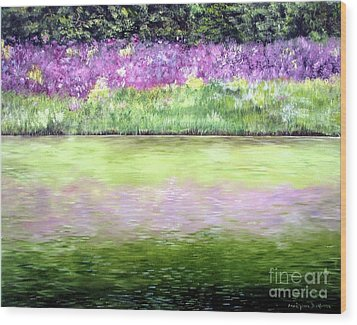 Wood Print featuring the painting Wild Phlox by Anna-maria Dickinson