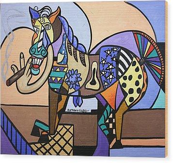 Wild Pony Wood Print by Anthony Falbo