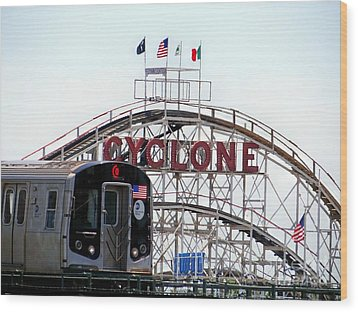 Wood Print featuring the photograph Wild Rides by Ed Weidman