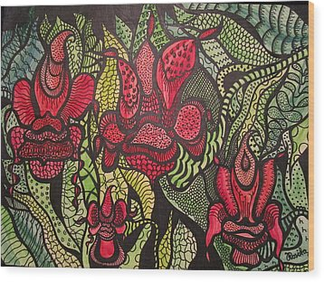 Wild Things  Wood Print