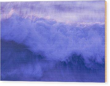 Wild Waves Wood Print by Serene Maisey