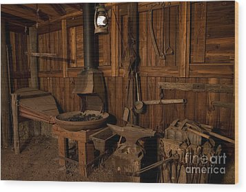 Wood Print featuring the photograph Wild West Blacksmith by Keith Kapple