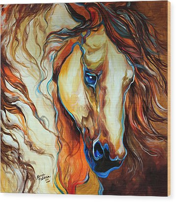 Wild West Buckskin Wood Print by Marcia Baldwin