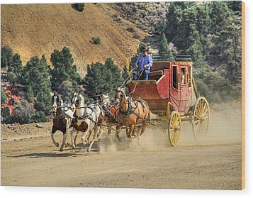 Wild West Ride 2 Wood Print