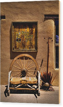 Wild West T-shirts - Old Town New Mexico Wood Print by David Patterson