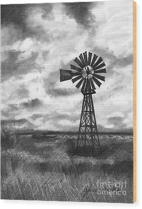 Wood Print featuring the drawing Wild Wind And Sunshine by J Ferwerda