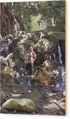 Wild Woman 2 Wood Print by Don Ewing