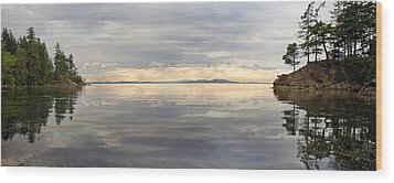 Wood Print featuring the photograph Wildcat Cove Along Chuckanut Drive In Washington by JPLDesigns