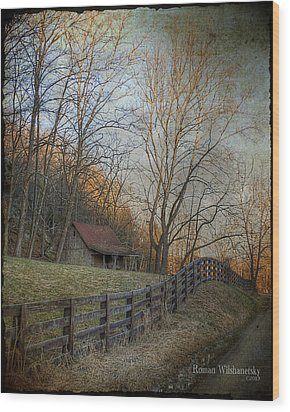 Wildcat Road Cabin Wood Print